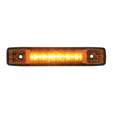 Amber Thin Line 6-LED Marker and Clearance Sealed Light