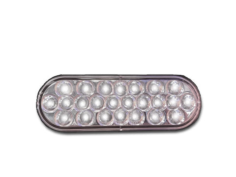 Oval Pearl Series LED Light White/Clear