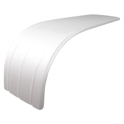"72"" Universal Stainless Steel 3 Ribbed Half Fender with Rolled Edge"
