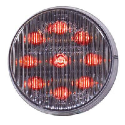 "Red 2"" Round LED Clear Lens Clearance Marker Light"