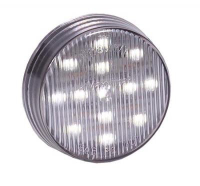 "2 1/2"" ROUND WHITE CLEARANCE MARKER LIGHT"
