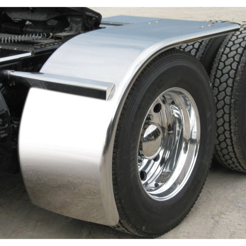 "80"" Stainless Steel ""Rollin'Lo"" Long Half Fender with Rolled Edge from TRUX TFEN-H11"