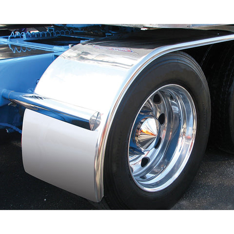"TFEN-H58 60"" Stainless Steel Standard Half Fender with Rolled Edge from TRUX"