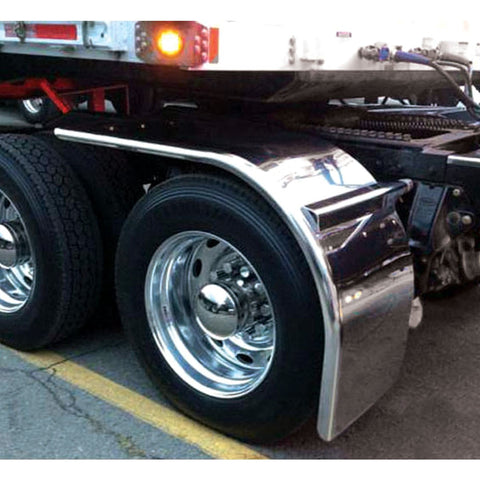 "TFEN-H57 80"" Stainless Steel Straight Drop Half Fender with Rolled Edge from TRUX"