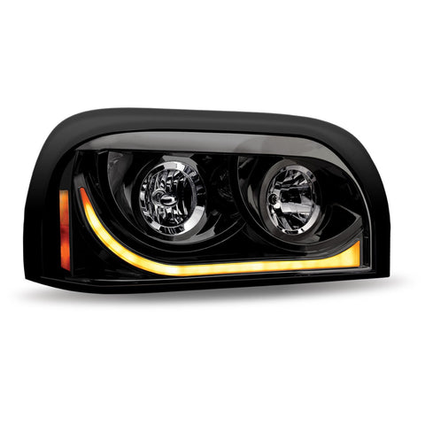 Freightliner Century Halogen Headlight Assembly with LED Strip (Passenger Side)
