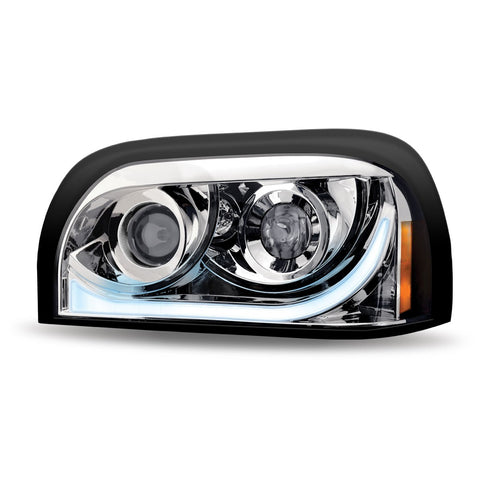 Freightliner Century LED Projector Headlight Assembly with LED Strip-Driver Side
