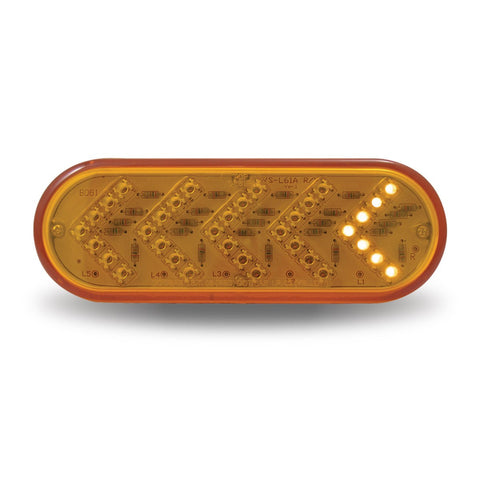 Oval Sequential Arrow LED - Amber