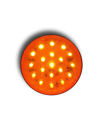"4"" AMBER STOP, TURN & TAIL LED (19 DIODES"