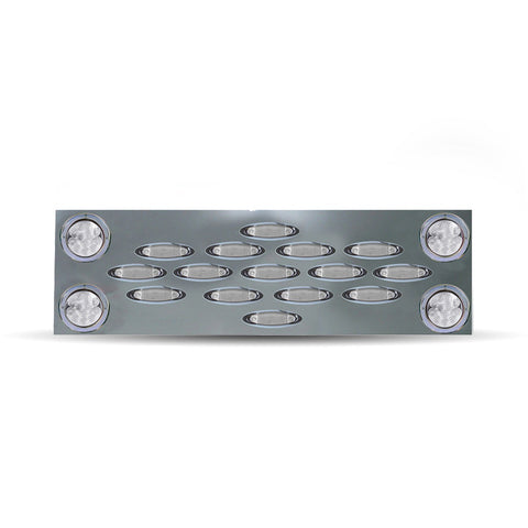 "Extra Wide Rear Center Panel w/ 4"" Clear LEDs / 15 Clear Infinity LEDs"