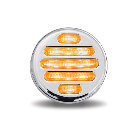 Flatline 2 Inch Round Marker Light - Clear Amber