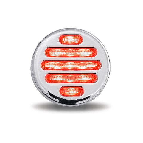 Flatline 2 Inch Round Marker Light with Chrome Housing