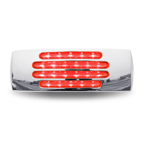 "2"" x 6"" Flatline Trailer LED - Clear Red"