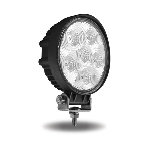 Universal White Round Work Light with Flood Beam - 2400 Lumens
