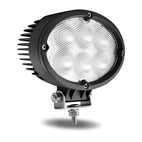 Universal White Cree Oval Flood Work Light - 5400 Lumens