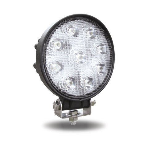 Universal White Round Work Light - 900 Lumens