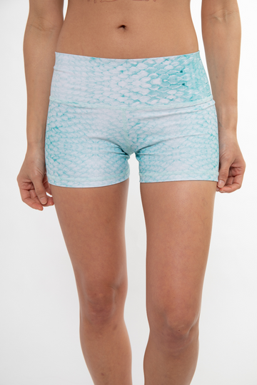 Classic Yoga Shorts - Green Scale