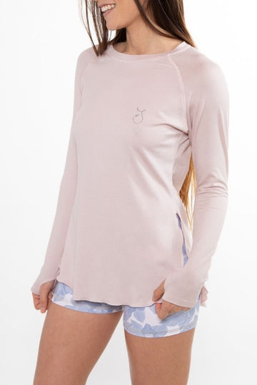 Flowy Performance Top - Pearl Pink