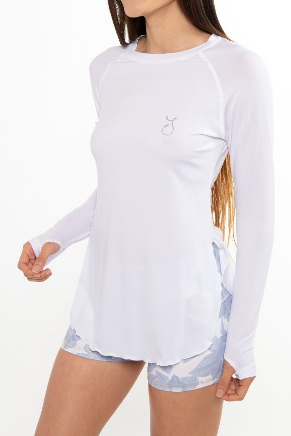 Flowy Performance Top - White