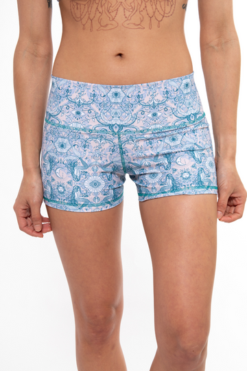 Classic Yoga Shorts - Mermaid Paradise