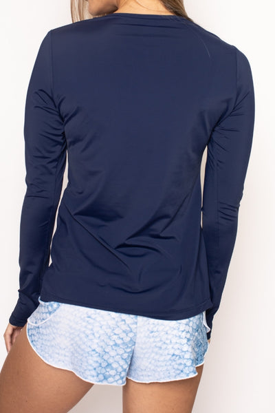 Classic Performance Top - Navy Blue