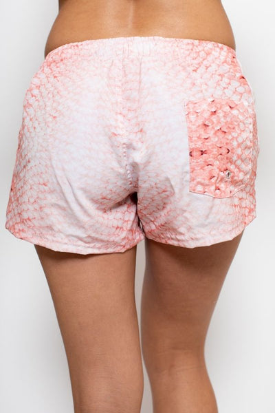 Classic Board Shorts - Coral Scale