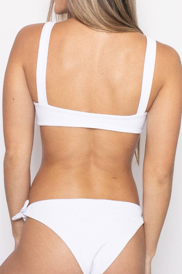 The Dolce Bikini Top - White