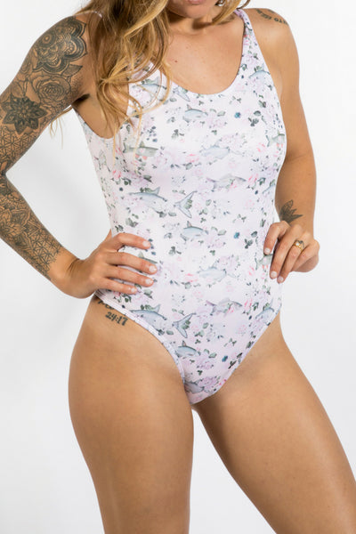 One Piece Bathing Suit - Flying Fish