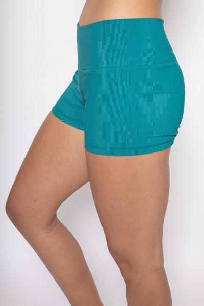 Vela Yoga Shorts - Sea Storm