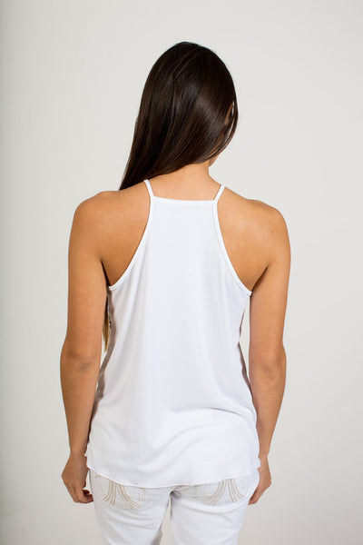 Biscayne Flowy Tank - White - FINAL SALE