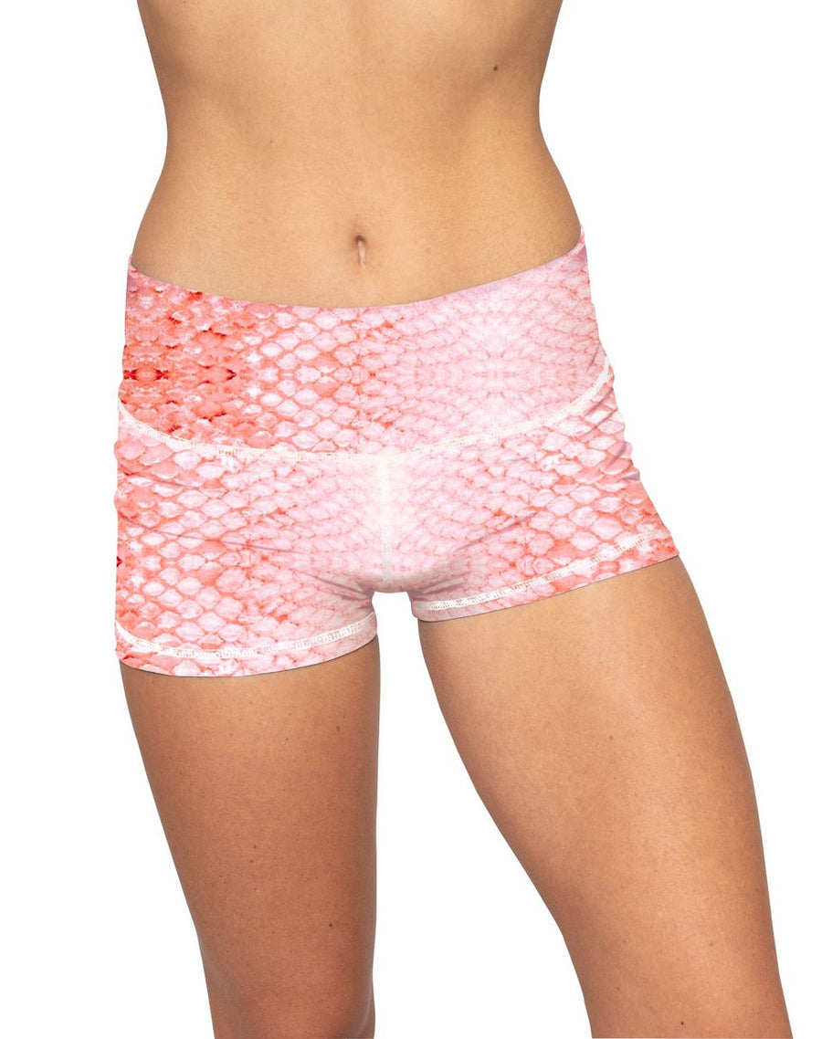 Classic Yoga Shorts - Coral Scale