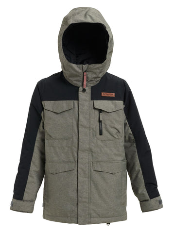 Burton Covert Boys Jacket - Heather Bog / True Black