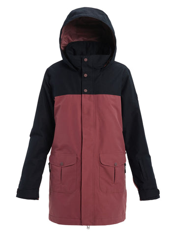 Burton Eyris Gore-TEX Womens Jacket - True Black / Rose Brown