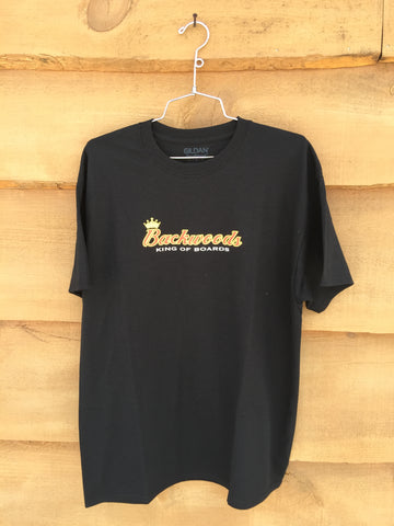 "Backwoods ""King of Boards"" Tee - Black"