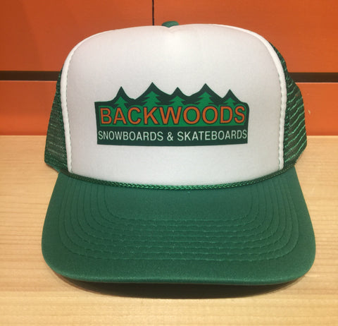 "Backwoods ""Since Day One"" Trucker Hat - Kelly Green / White"
