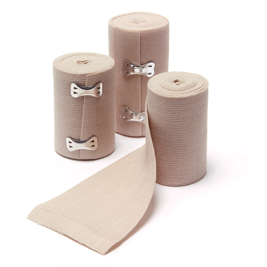 Latex Free Elastic Bandages with Clip Closure