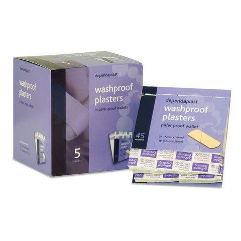 Dependaplast Washproof Pilfer Proof Plasters