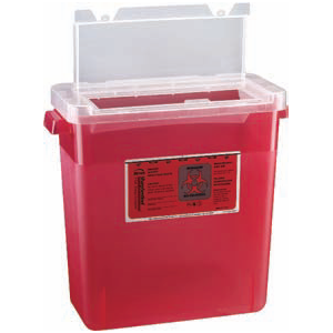 3 Gallon Sharps Container - Large Opening Lid
