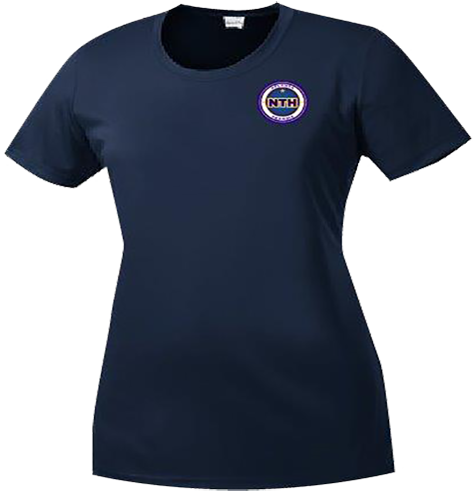 Ladies Heather Scoop Neck Tee - Full Color NTH Logo Left Chest (LST350)