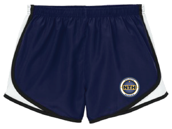 LST304 -  NAVY WOMENS TRACK SHORTS