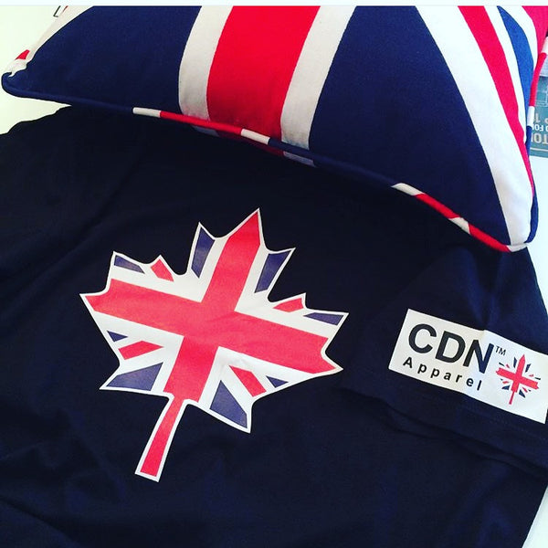 British Canadian - Leaf tshirt - Canadian Apparel™