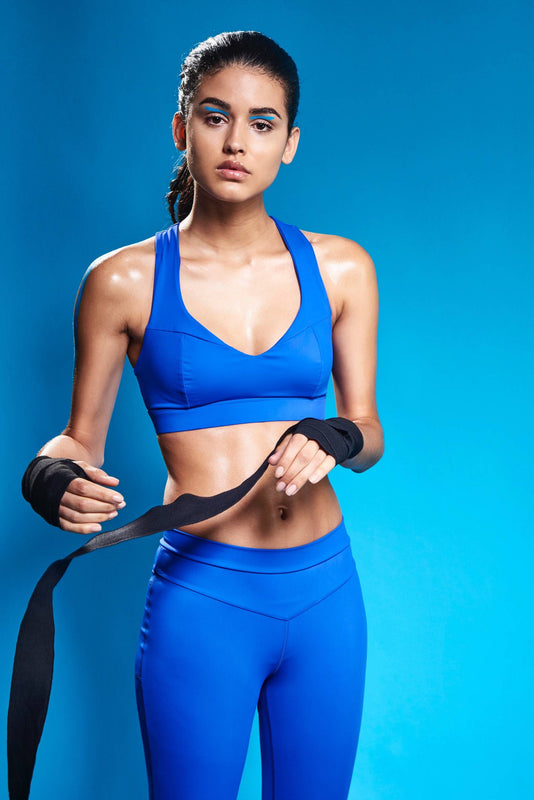 Sports bra and leggings for boxing