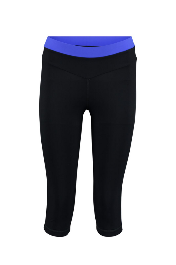 Core Capri Leggings - Azure and Black