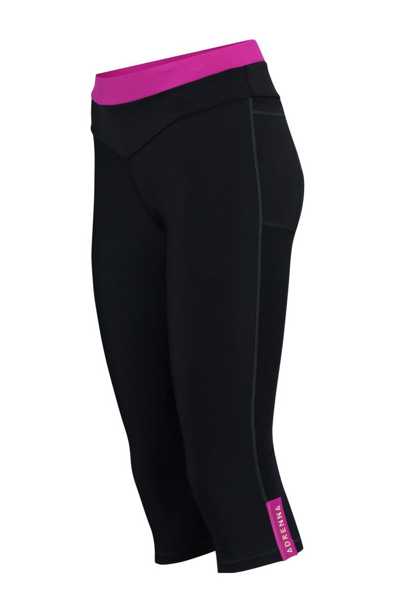 Core Capri Leggings - Pink and Black