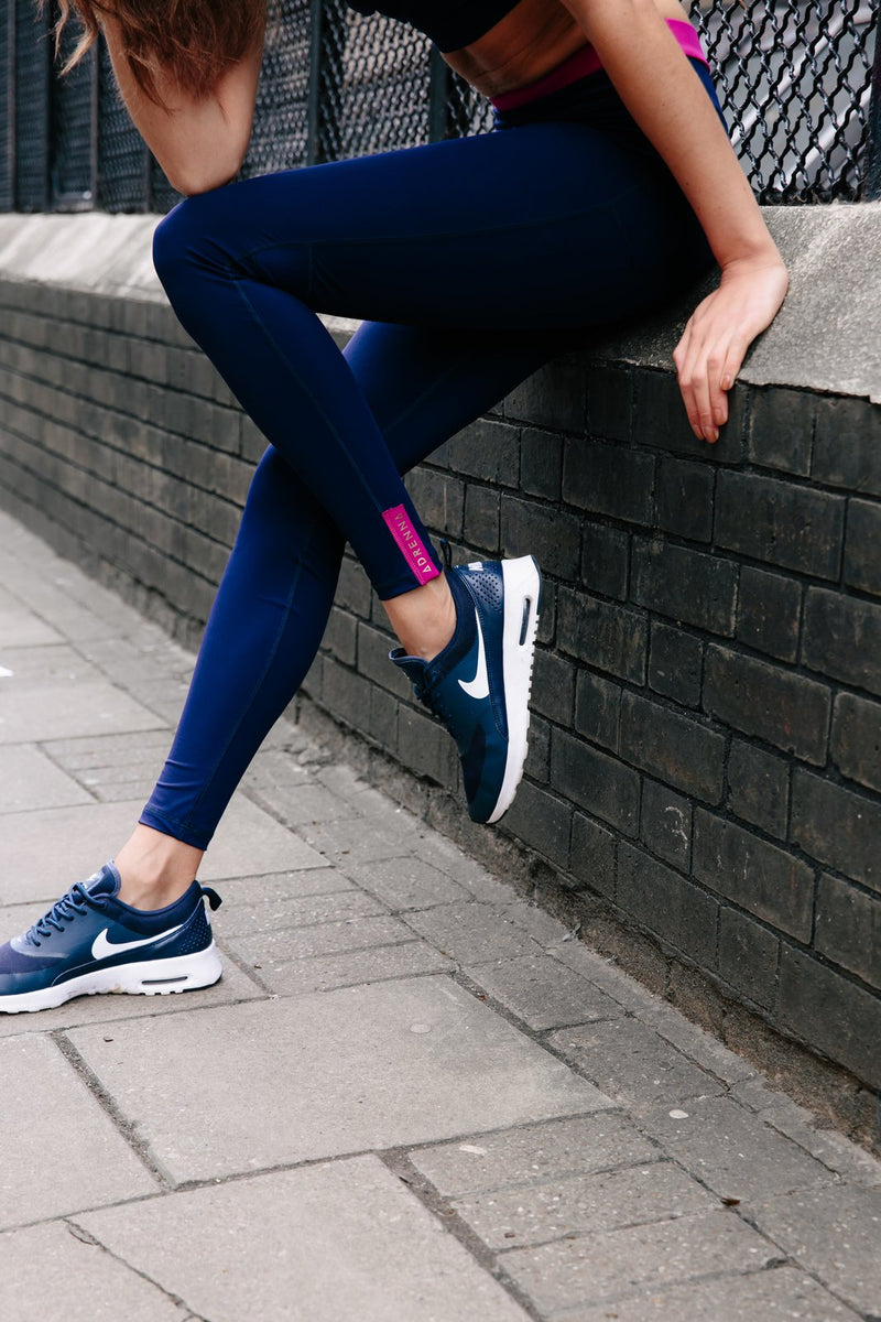 Core Leggings - Pink and Navy