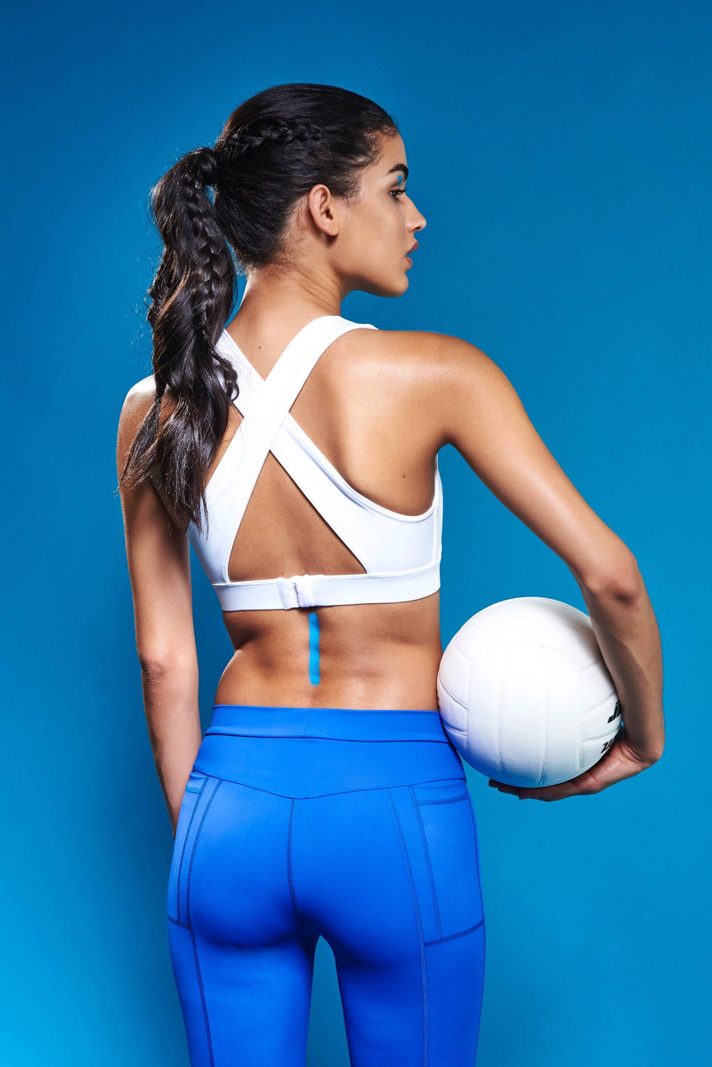 Core Sports Bra - White - Women's Activewear  - Adrenna