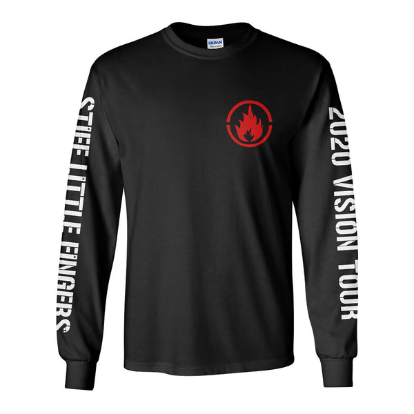 2020 Vision Tour Breast Flame Longsleeve Black T-Shirt