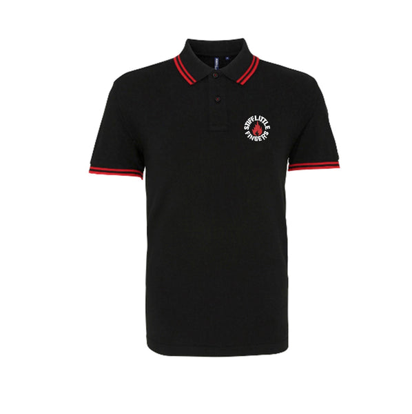 Logo Polo Black / Red pre-order