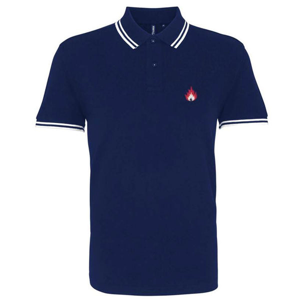 Navy Flame Polo Shirt