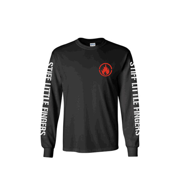 FLAME BLACK LONG SLEEVE TEE