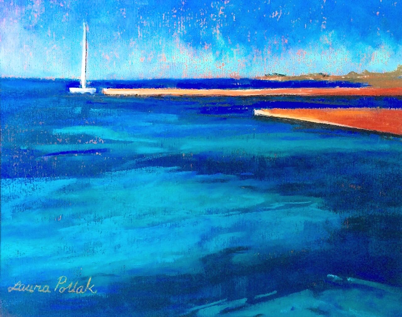 Clear Blue Paintings Laura Pollak- Portfolio2 Gallery